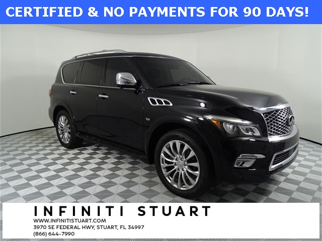 Certified Pre-Owned 2016 INFINITI QX80 Theater + Technology Package+Driver's Assist